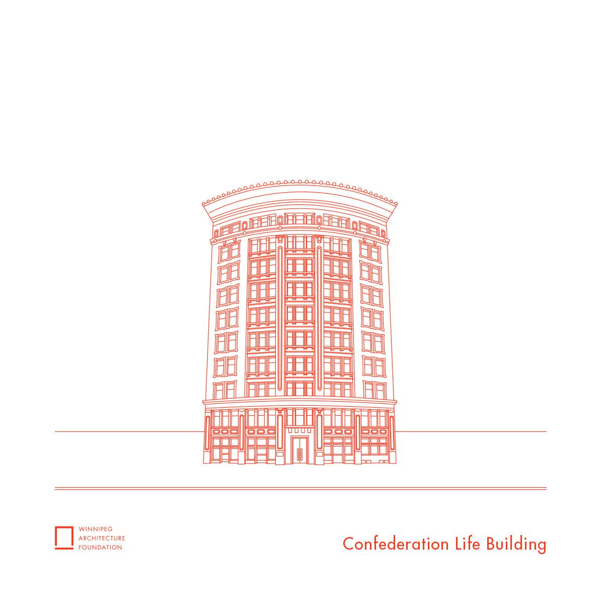 Confederation Life Building Tea Towel