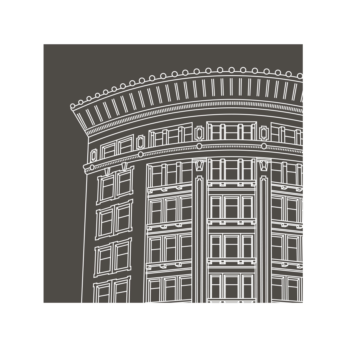 Confederation Building Magnet