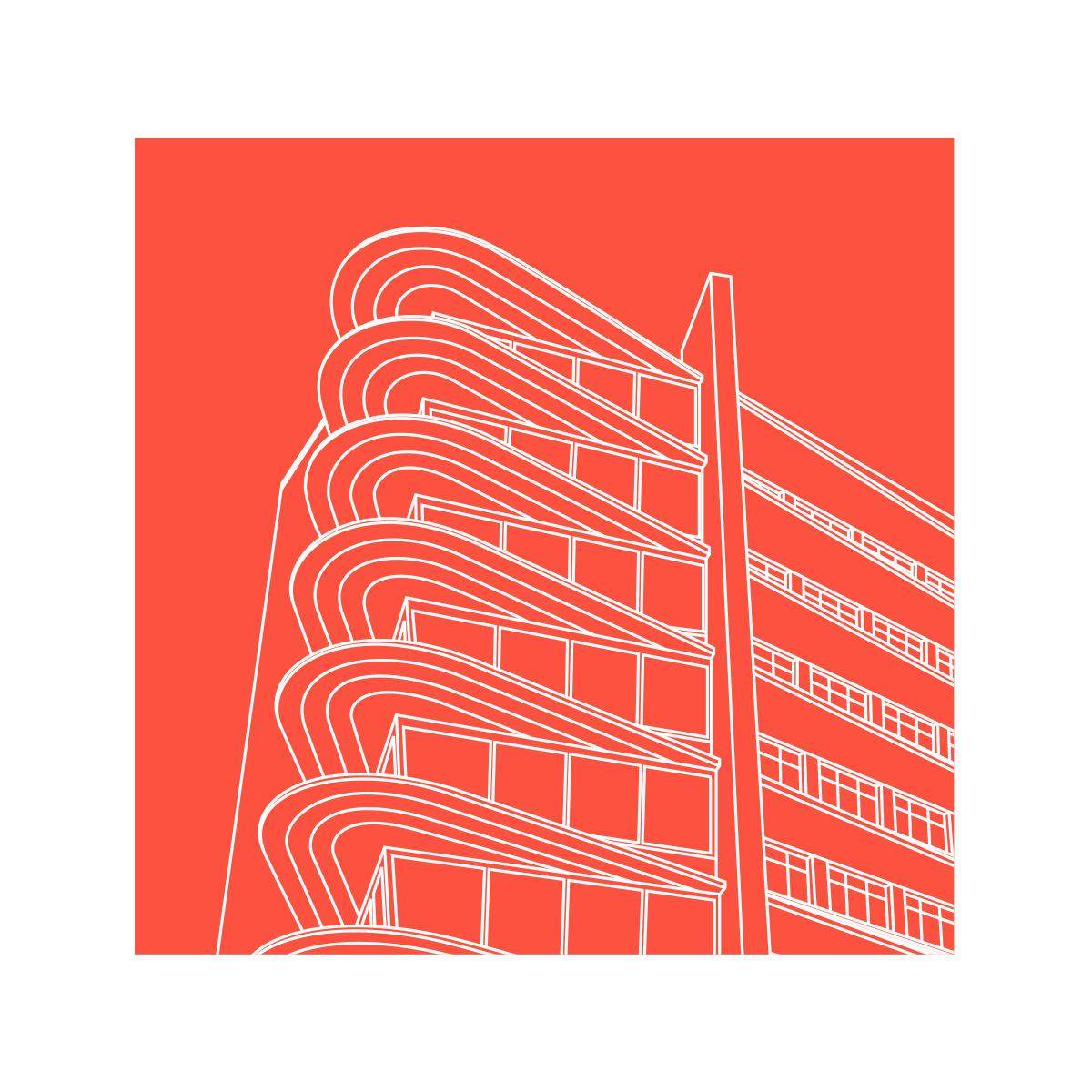 Winnipeg Clinic Magnet Red