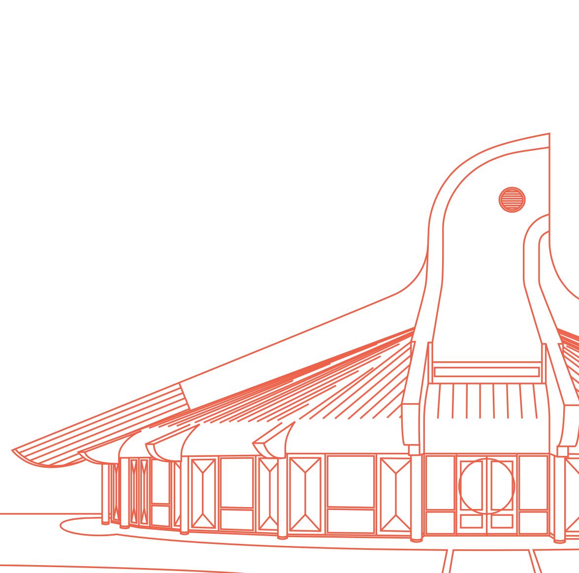 Thunderbird House Magnet White