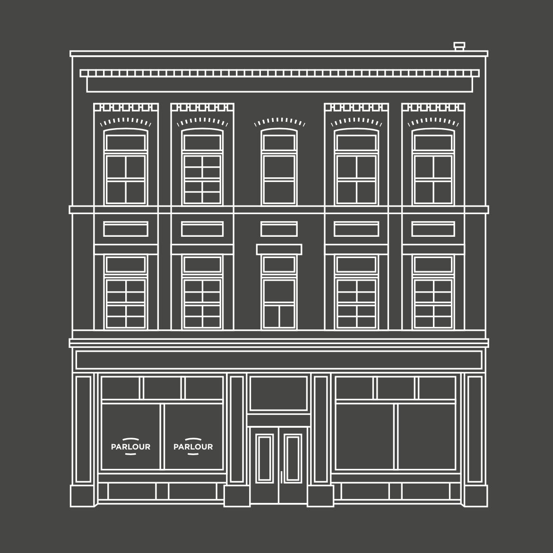 468 Main Street (Parlour Coffee) Magnet