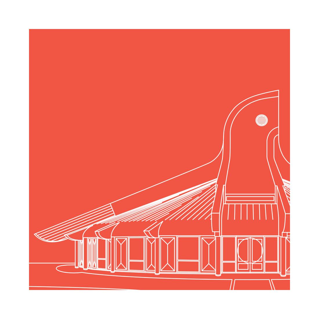 Thunderbird House Magnet Red